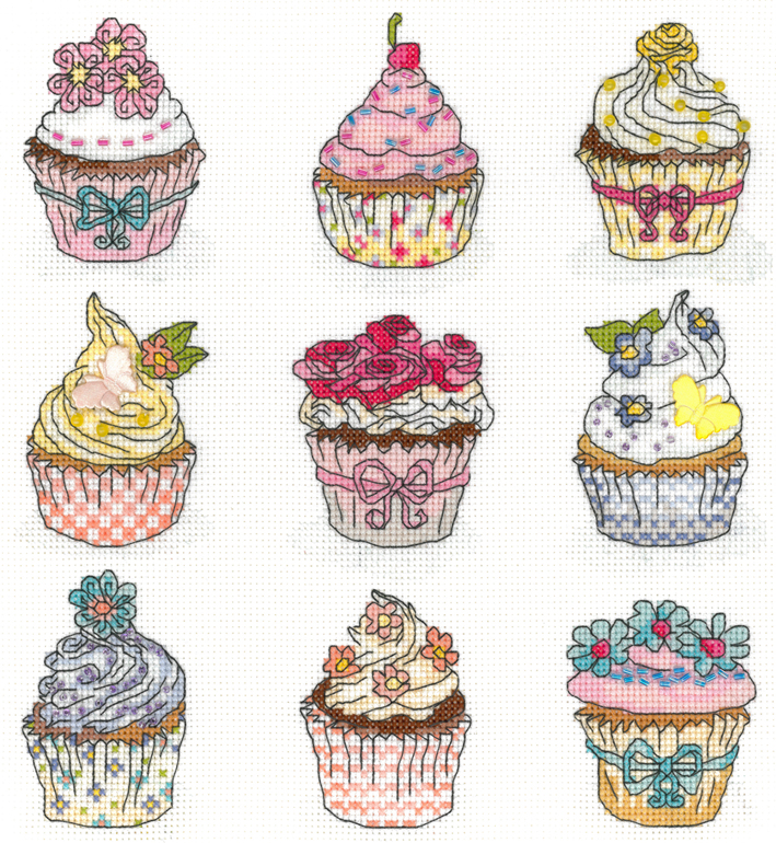 Sommar cupcakes