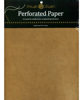 Mill Hill Perforerat papper Antik Brun