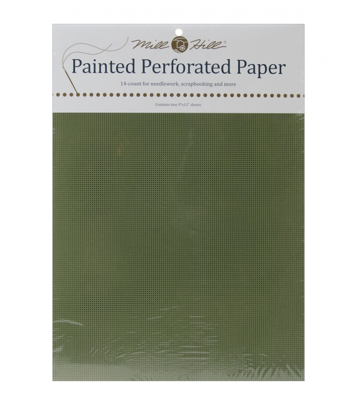 Mill Hill Perforerat papper Oliveträd